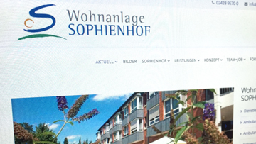 foto website sophienhof neu